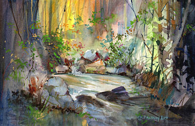 Painting - The Enchanted Pool by P Anthony Visco