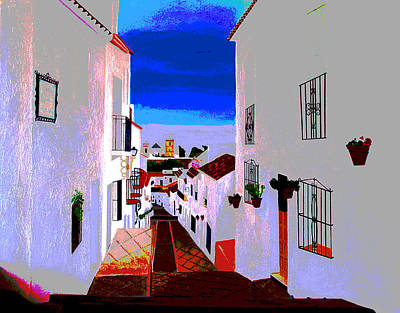 Painting - The Enchanted Village Of Mijas by JoeRay Kelley