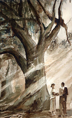 Tree Painting - The Encounter by Arline Wagner