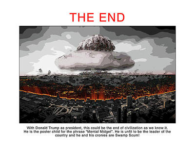 Presidential Elections Digital Art - The End by Joe  Palermo
