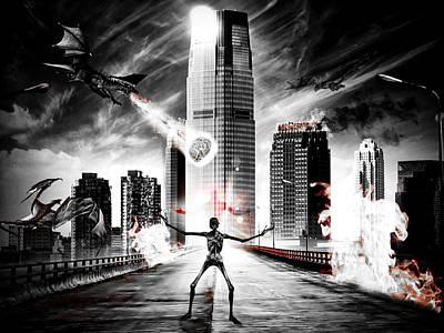 Digital Art - The End by Keith Elliott