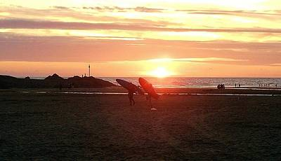 Photograph - The End Of A Day's Surfing by Richard Brookes