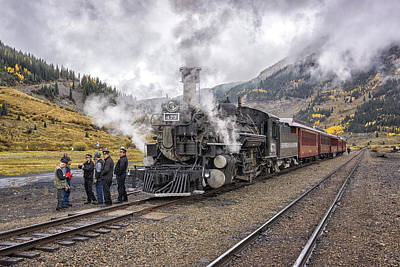 Photograph - The End Of A Run Silverton Railyard Dsc07665 by Greg Kluempers
