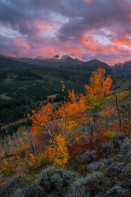 Photograph - The End Of Autumn - Rocky Mountain National Park by Aaron Spong