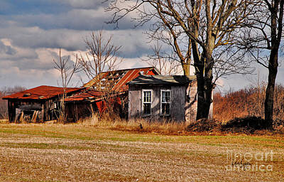 The Old Shed Photograph - The End Of Days by Lois Bryan