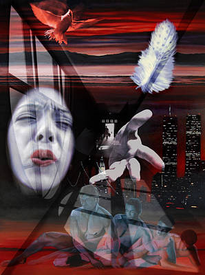 Mixed Media - The End Of Innocence Or 9-11 by Richard Meric