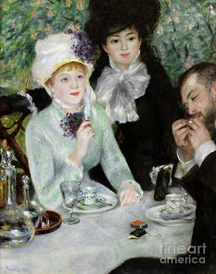 The End Of Luncheon, 1879 Art Print by Pierre Auguste Renoir