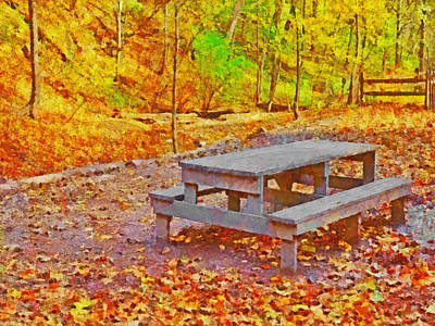 Digital Art - The End Of Picnic Season by Digital Photographic Arts