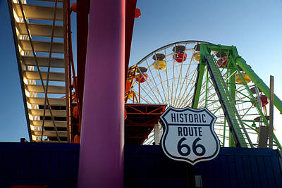 Photograph - The End Of Route 66 1 by George Taylor