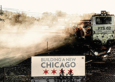 Train Photograph - The End Of The Line Chicago 606 by Larry Jost