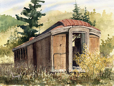 Painting - The End Of The Line by Sam Sidders