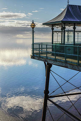 Photograph - The End Of The Pier, Clevedon Somerset by Christopher Rees