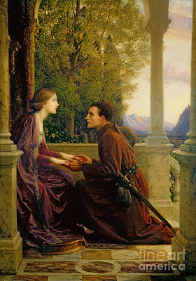 Romantic Painting - The End Of The Quest by Sir Frank Dicksee