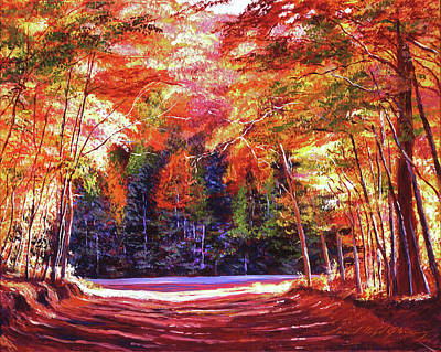 Painting - The End Of The Road by David Lloyd Glover