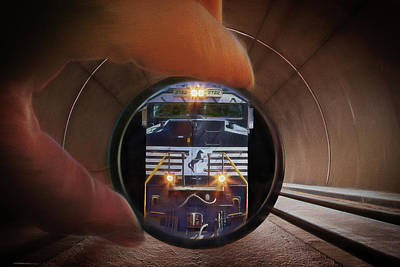 Digital Art - The End Of The Tunnel by John Haldane