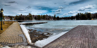 The End Of Winter On Old Forge Pond In The Adirondack Mountains Original by David Patterson