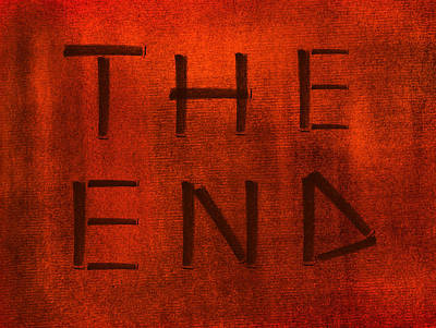 Photograph - The End Red Background by Radoslav Nedelchev