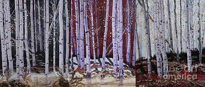 Painting - The End Triptych by Stanza Widen