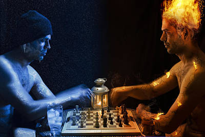 Chess Photograph - The Endless Battle by Shay Sheleg