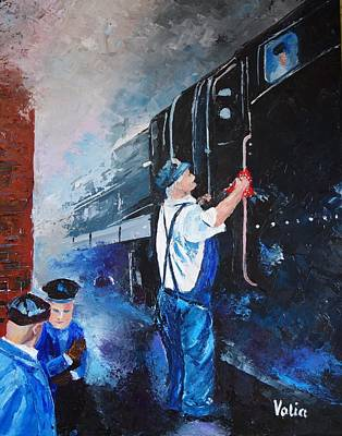 Painting - The Engineer by Valerie Curtiss