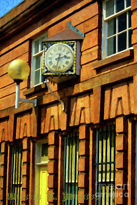Digital Art - The England Train Clock by Donna L Munro