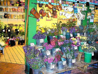 Flower Shop Photograph - The English Flower Shop  by Jan Matson