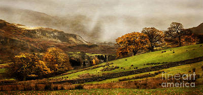 Park Scene Digital Art - The English Lake District by Linsey Williams