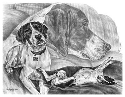 Drawing - The English Major - English Pointer Dog by Kelli Swan