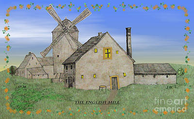 Digital Art - The English Mill V4 by Donna L Munro