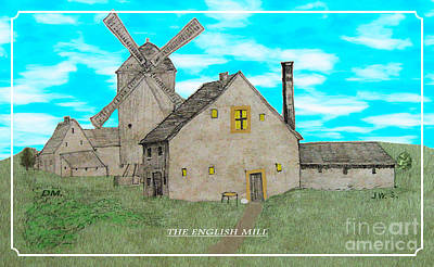 Digital Art - The English Mill V6 by Donna L Munro
