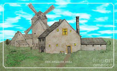Digital Art - The English Mill V6 by Donna Munro