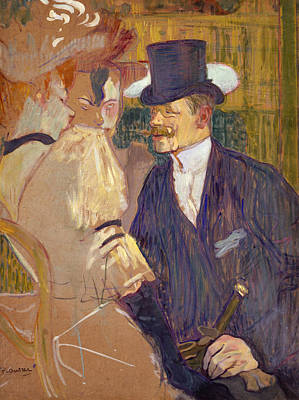 Club Scene Painting - The Englishman At The Moulin Rouge by Henri de Toulouse-Lautrec