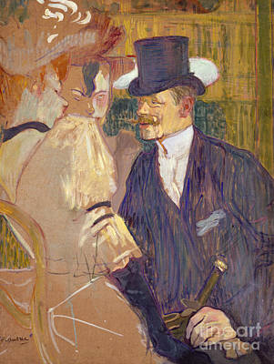 Night Life Painting - The Englishman  by Henri de Toulouse-Lautrec