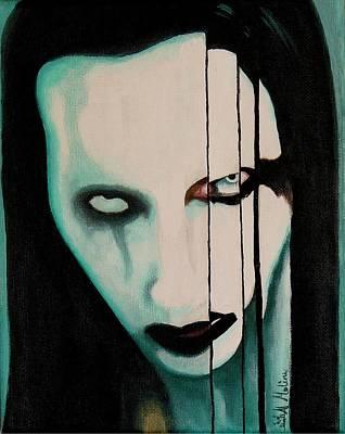 The Enigma Marilyn Art Print by Al  Molina
