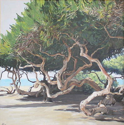 Painting - The Enigmatic Trees by Jackie Hoats Shields