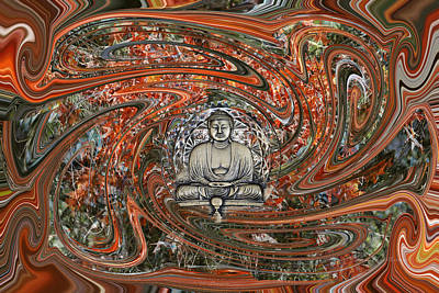 Digital Art - The Enlightened One And Nirvana by rd Erickson