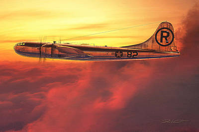 Digital Art - Enola Gay B-29 Superfortress by David Collins