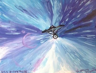 The Enterprise Art Print by Alana Meyers