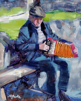 Painting - The Entertainer by Mary Benke