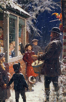 Crowd Painting - The Entertainer  by Percy Tarrant