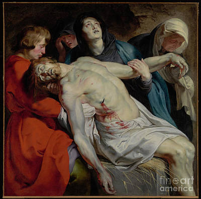 Munch Painting - The Entombment By Peter Paul Rubens by Esoterica Art Agency