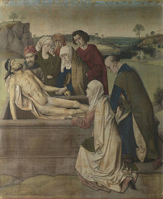 Digital Art - The Entombment by Dirk Bouts
