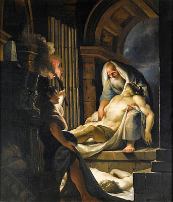 Painting - The Entombment by Giovanni David