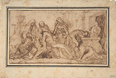 Drawing - The Entombment by Nicolas Poussin