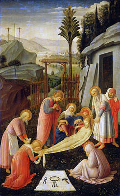 Painting - The Entombment Of Christ by Attributed to Fra Angelico
