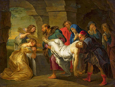 Painting - The Entombment Of Christ by Balthasar Beschey