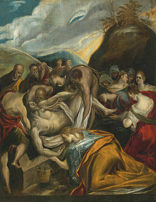 Painting - The Entombment Of Christ by El Greco