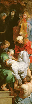 Disciples Painting - The Entombment Of St Stephen by Peter Paul Rubens