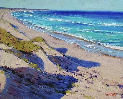 Impressionist Beach Painting - The Entrance Beach Dunes, Australia by Graham Gercken
