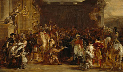 Painting - The Entrance Of George Iv At The Palace Of Holyroodhouse by David Wilkie